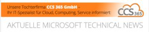 Aktuelle Microsoft technical News